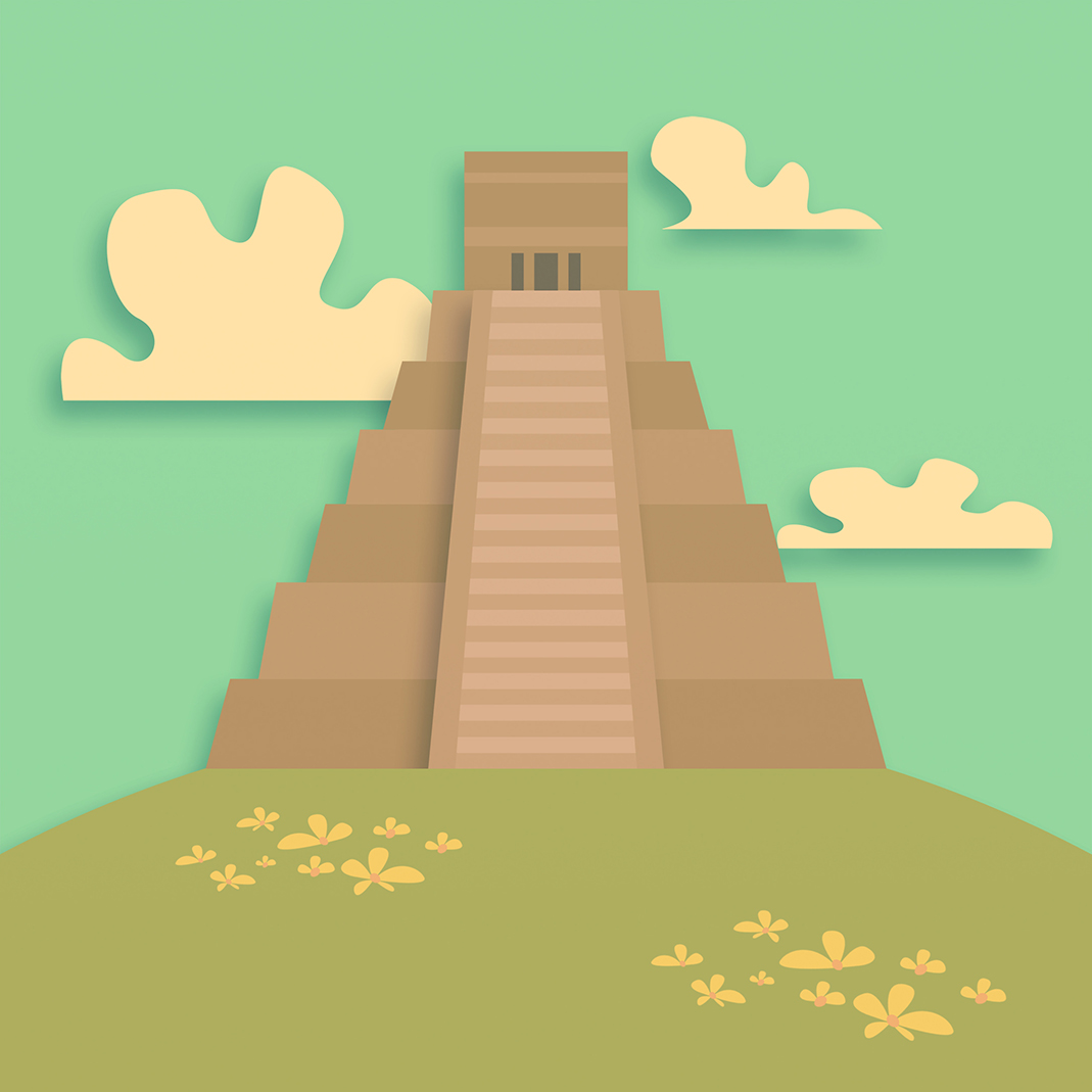 Image of an ancient South American pyramid.